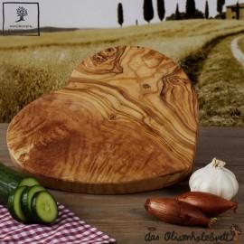 olive wood board heart shaped
