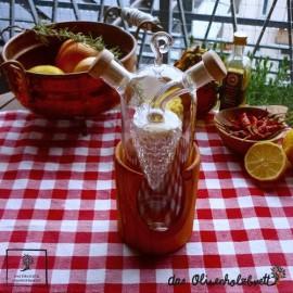Öl und Essig Menage in Weintrauben Form
