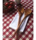 set of 2 classic spoons olive wood