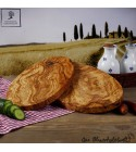 oval snack board olive wood