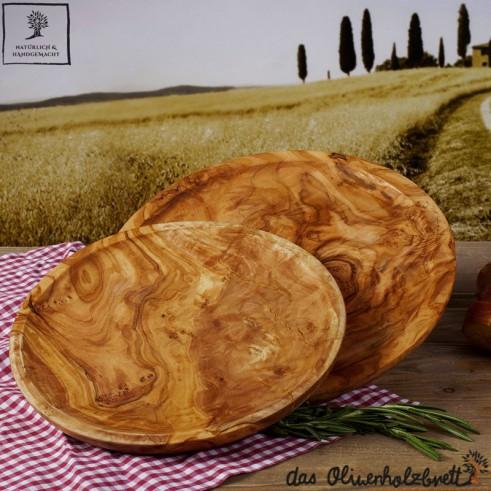 handgefertigter Holzteller