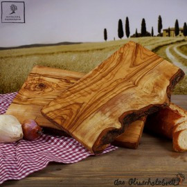 Rustic dish, one side natural edge