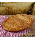 Round chopping board with juice groove