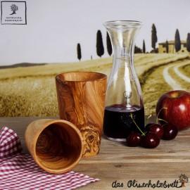 Mug out of olive wood