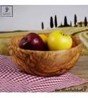 Big wooden salad bowl, handcrafted