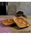 small bowl squared shaped olive wood