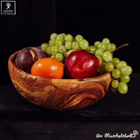 Salatschale aus Olivenholz