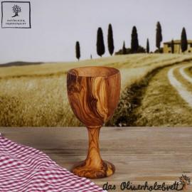 1 x Wein Becher aus Olivenholz