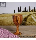 Olive wood wine cup