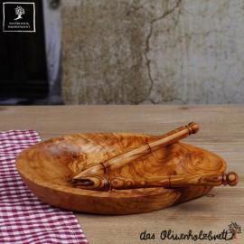 Olive wood bowl for olives