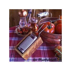 Parmesanreibe mit Olivenholzbehälter