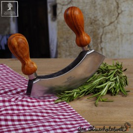 herb cutter with olive wood handle